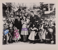 """Mickey Carroll, Jerry Maren, & Karl Slover Signed """"The Wizard of Oz"""" 16x18.5 Photo with (3) Character Inscriptions (JSA COA) at PristineAuction.com"""