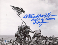 """Hershel Williams Signed 8x10 Photo Inscribed """"Medal of Honor"""" & """"Iwo Jima"""" (Beckett COA) at PristineAuction.com"""