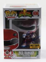 "Steve Cardenas Signed ""Mighty Morphin: Power Rangers"" Red Ranger #406 Funko Pop! Vinyl Figure Inscribed ""Rocky"" (Beckett COA) at PristineAuction.com"