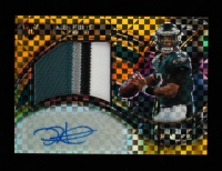 Jalen Hurts 2020 Select Jumbo Rookie Signature Swatches Prizm Gold #22 #6/10 at PristineAuction.com