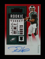 Jalen Hurts 2020 Panini Contenders Red Zone #122A Autograph at PristineAuction.com