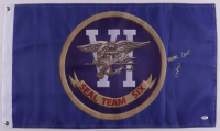"""Robert O'Neill Signed """"SEAL Team Six"""" Flag Inscribed """"Never Quit!"""" (PSA COA) at PristineAuction.com"""
