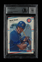 Mark Grace Signed 1988 Fleer Update #77 (BGS Encapsulated) at PristineAuction.com