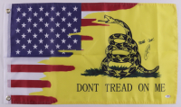 """Robert O'Neill Signed """"DON'T TREAD ON ME"""" Flag Inscribed """"Never Quit!"""" (PSA COA) at PristineAuction.com"""