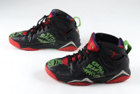 """Eric Bauza Signed """"Marvin the Martian"""" Pair of Air Jordan Shoes Inscribed """"Marvin"""" with Hand-Drawn Sketch (PSA COA) at PristineAuction.com"""