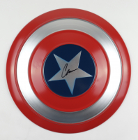 """Chris Evans Signed """"Captain America"""" Marvel Authentic Full-Size 23.5"""" Metal Shield (Beckett Hologram) at PristineAuction.com"""
