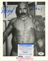 "The Iron Sheik Signed WWE 8x10 Photo Inscribed ""2001"" (PSA COA) at PristineAuction.com"
