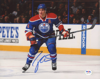Taylor Hall Signed Oilers 8x10 Photo (PSA COA) at PristineAuction.com
