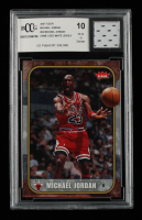 Michael Jordan 2007 Fleer #24 With Game Worn White Jersey Piece (BCCG 10) at PristineAuction.com