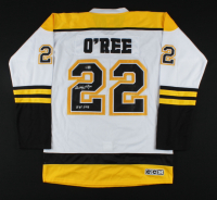 """Willie O'Ree Signed Bruins Jersey Inscribed """"HOF 2018"""" (Beckett COA) at PristineAuction.com"""