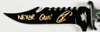 """Robert O'Neill Signed Navy SEAL Combat Knife Inscribed """"Never Quit!"""" (PSA COA) at PristineAuction.com"""