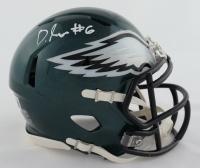 DeVonta Smith Signed Eagles Speed Mini Helmet (Beckett Hologram) at PristineAuction.com