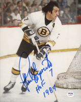 "Phil Esposito Signed Bruins 8x10 Photo Inscribed ""HOF 1984"" (PSA COA) at PristineAuction.com"