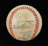 MLB Hall of Famers & Stars OAL Baseball Signed by (20) with Bobby Doerr, Enos Slaughter, Monte Irvin, Lou Brock, Don Larsen (JSA LOA) at PristineAuction.com