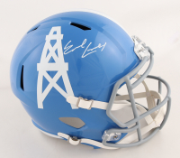 Earl Campbell Signed Oilers Full-Size Throwback Speed Helmet (JSA COA) at PristineAuction.com