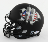 """Robert O'Neill Signed """"Twin Towers Tribute"""" Matte Black Mini Helmet Inscribed """"Justice Served!"""" (PSA COA) at PristineAuction.com"""