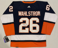 Oliver Wahlstrom Signed Islanders Throwback Jersey (JSA COA) at PristineAuction.com