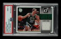 Larry Bird Signed 2014-15 Donruss Gamers Jerseys #12 (PSA Encapsulated) at PristineAuction.com
