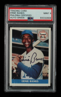 Ernie Banks Signed 1992 Front Row Banks #1 Beginnings (PSA Encapsulated) at PristineAuction.com