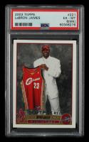 LeBron James  2003-04 Topps #221 RC (PSA 6) (MK) at PristineAuction.com