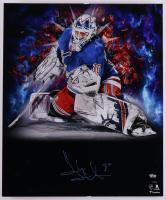Henrik Lundqvist Signed Rangers 20x24 Photo on Foam Board (Fanatics Hologram) (See Description) at PristineAuction.com