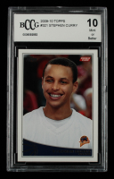 Stephen Curry 2009-10 Topps #321 RC (BCCG 10) at PristineAuction.com