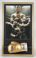 Mike Tyson Signed 20x33 Custom Framed Boxing Glove Display (PSA COA) at PristineAuction.com
