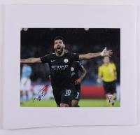 Sergio Aguero Signed Manchester City F.C. 16.75x18 Photo on Foam Board (Fanatics Hologram & Beckett Hologram) (See Description) at PristineAuction.com