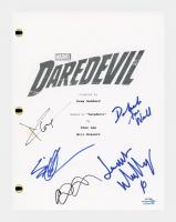 "Daredevil Cast Signed ""Daredevil"" Pilot Episode Script by (5) Charlie Cox, Deborah Ann Woll, Elden Henson, Joanne Whalley & Wilson Bethel (AutographCOA COA) at PristineAuction.com"