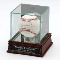 Mariano Rivera Signed OML Baseball With Display Case (Steiner Hologram) at PristineAuction.com
