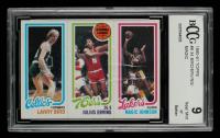 Larry Bird / Julius Erving / Magic Johnson 1980-81 Topps #6 (BCCG 9) at PristineAuction.com