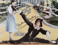 """Mickey Carroll, Karl Slover & Jerry Maren Signed """"The Wizard of Oz"""" 12x15 Photo Inscribed """"1st Trumpeter"""" & """"Lollipop Kid"""" (JSA COA) at PristineAuction.com"""
