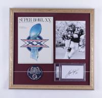 Walter Payton Signed Bears 19x20 Custom Framed Cut Display with Original 1985 Super Bowl XX Program & Matching Lapel Pin (PSA Encapsulated) at PristineAuction.com