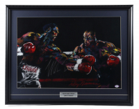 Mike Tyson Signed 22x28 Original LeRoy Neiman MGM Fight Lithograph (PSA Hologram) at PristineAuction.com