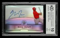Mike Trout 2010 Bowman Platinum Prospect Autographs Refractors #MT (BCCG 10) at PristineAuction.com