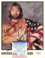 """Hacksaw"" Jim Duggan Signed WWE 8x10 Photo Inscribed ""2-8-03"" (PSA COA) at PristineAuction.com"