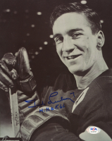 """Ted Lindsay Signed Red Wings 8x10 Photo Inscribed """"H.H.O.F. 66"""" (PSA COA) at PristineAuction.com"""