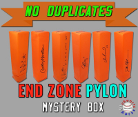 Schwartz Sports NO DUPLICATES Signed Football Endzone Pylon Mystery Box - Series 3 (Limited to 75) (75 Different Players!!!) at PristineAuction.com