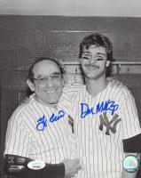 Don Mattingly & Yogi Berra Signed Yankees 8x10 Photo (JSA COA) at PristineAuction.com