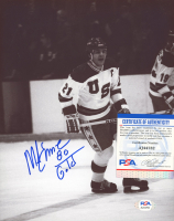 """Mike Eruzione Signed 1980 Winter Olympics 8x10 Photo Inscribed """"80 Gold"""" (PSA COA) at PristineAuction.com"""