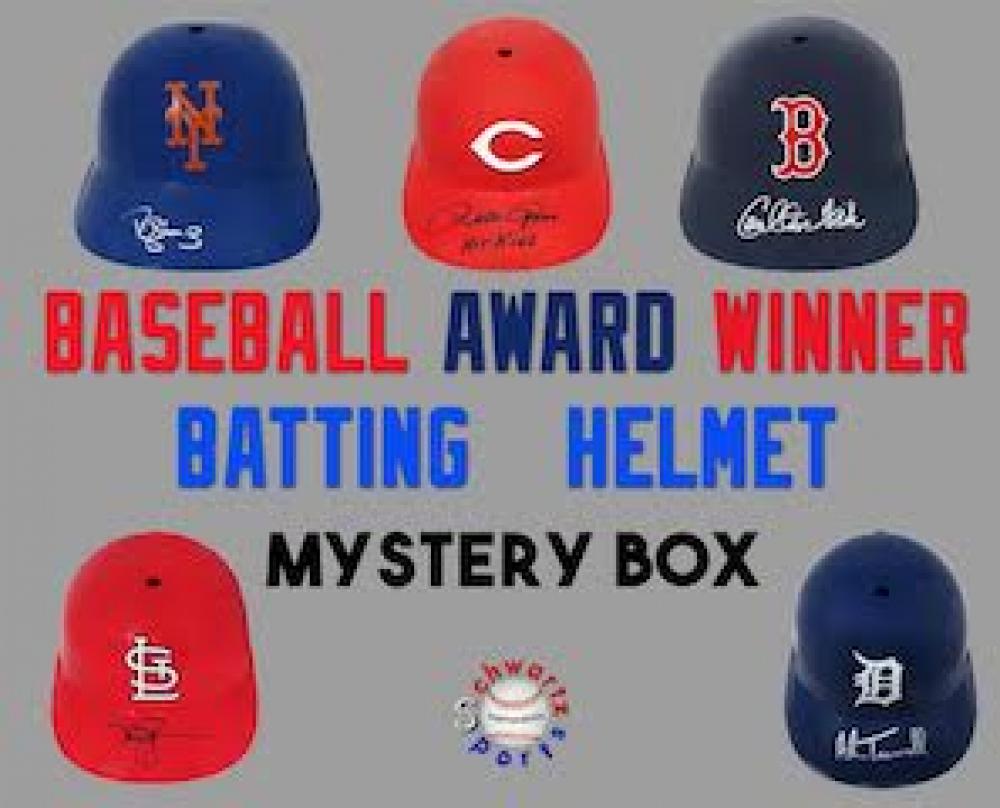 Schwartz Sports Baseball Award Winner Signed Batting Helmet Mystery Box – Series 1 (Limited to 75)  (ALL BATTING HELMETS ARE OF A MLB AWARD WINNER!!!) at PristineAuction.com