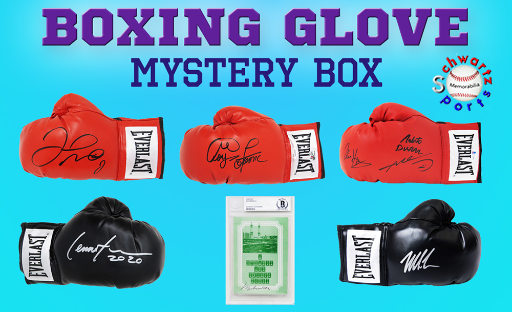 Schwartz Sports Boxing Glove Signed Mystery Box - Series 12 (Limited to 100) **MUHAMMAD ALI Autograph – Grand Prize** at PristineAuction.com
