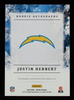 Justin Herbert 2020 Panini Origins Rookie Autographs Blue #3 #09/49 at PristineAuction.com