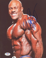 "Phil Heath Signed 8x10 Photo Inscribed ""5xMOL"" (PSA COA) at PristineAuction.com"