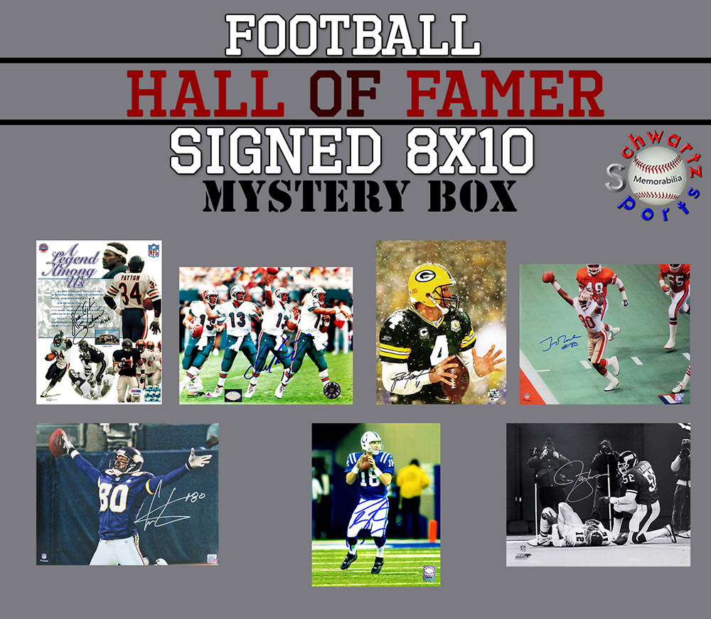Schwartz Sports Football Hall of Famer Signed 8x10 Photo Mystery Box - Series 16 (Limited to 150) - **Jerry Rice, Cris Carter & Lawrence Taylor 16x20 Photo Redemptions** at PristineAuction.com