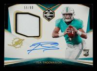 Tua Tagovailoa 2020 Limited Gold Spotlight #102 Jersey Autograph #59/60 at PristineAuction.com