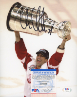 Chris Chelios Signed Red Wings 8x10 Photo (PSA COA) at PristineAuction.com