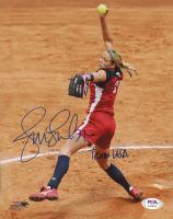 "Jennie Finch Signed Olympic Softball 8x10 Photo Inscribed ""Team USA"" (PSA COA) at PristineAuction.com"