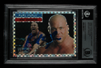 Kurt Angle Signed 2006 Topps Heritage Chrome WWE X-Fractors #23 (BGS Encapsulated) at PristineAuction.com