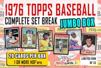 """1976 TOPPS BASEBALL COMPLETE SET BREAK"" BOX– 20 CARDS PER BOX at PristineAuction.com"